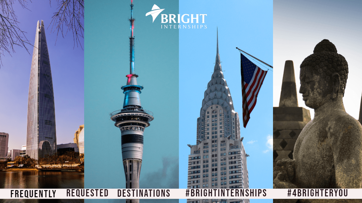 Bright Internships 4th Anniversary: 4 Frequently Requested Internship Destinations