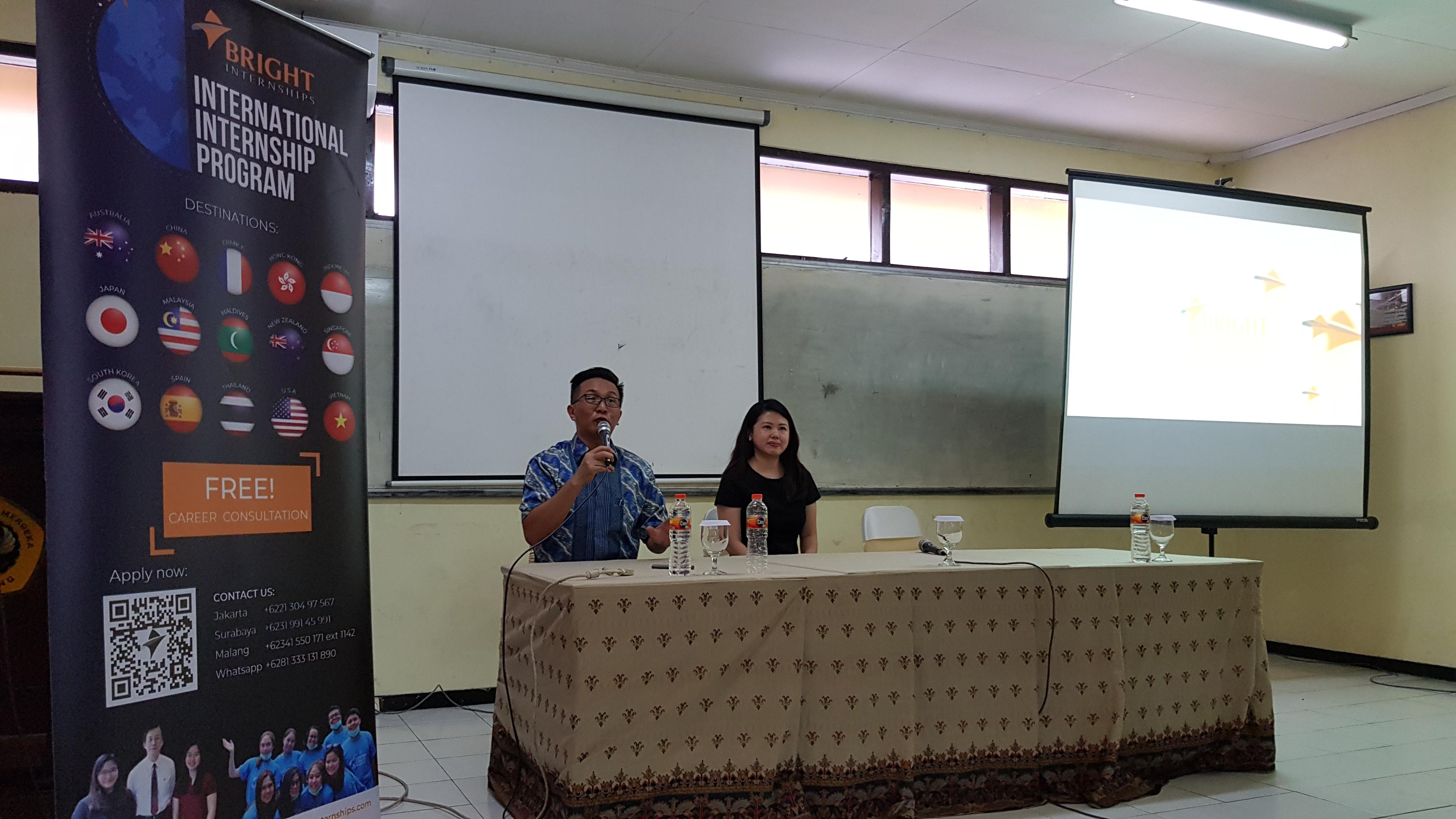 Internship Program Info Session at Univeritas Merdeka Malang